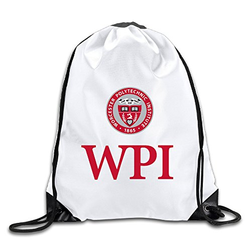HROSE Unisex Drawstring Bags Worcester WPI Logo Polytechnic Institute Drawstring Pouch Bags, Ideal For Gym And Sports (Halloween In Worcester)