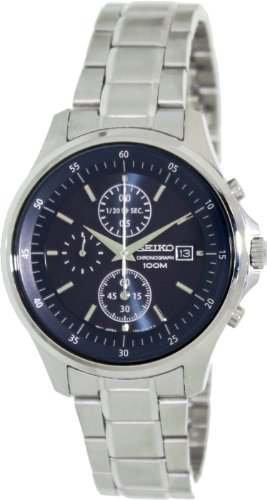 5f18cde4b15b Seiko Blue Dial Chronograph Stainless Steel Mens Watch SNDE21 ...