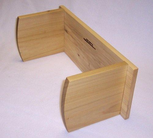 Meditation Bench Economy; Fixed Curved Leg (Poplar) Find