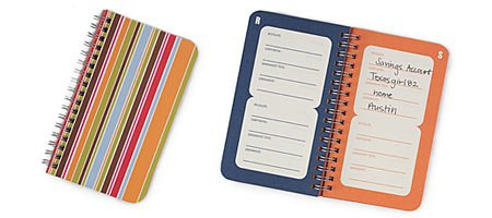 Password Reminder Notebook