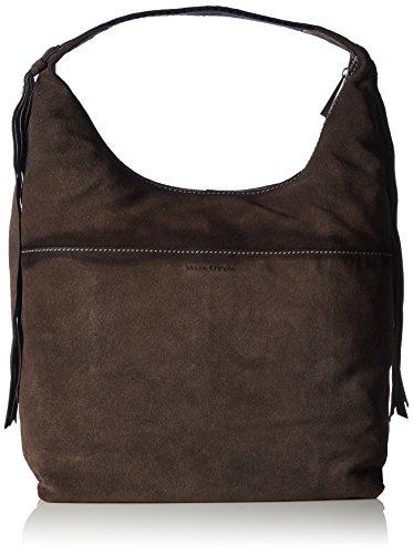 Marc O'PoloHobo Bag L Borsa a Tracolla, Donna, Marrone (Charcoal 929), 35x39x17 cm (B x H x T)