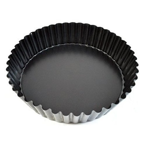 Generic World Cuisine Fluted Non-Stick Tart Mold with Removable Bottom 9.5 Inch Depth