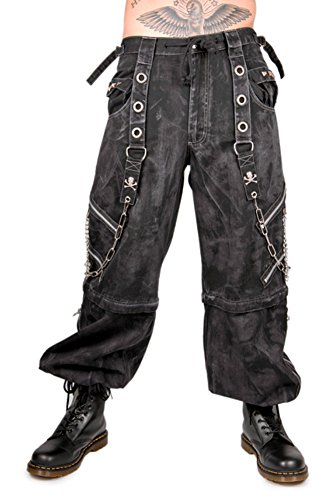 Tripp Men's Bondage Cyber Gothic Rocker Techno Rave Biker Jeans Pants (M-34)