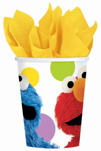 Amscan Sesame Street Paper Cups, 9-Ounce, Multicolor - 1
