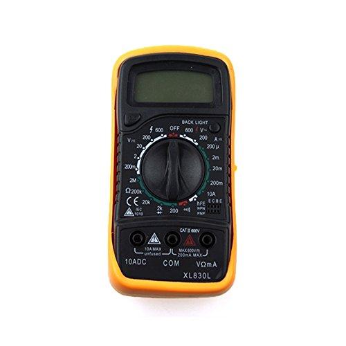 RXYYOS® XL830L Digital Multimeter Messgerät LCD Amperemeter Voltmeter Stromtester + Messleitungen