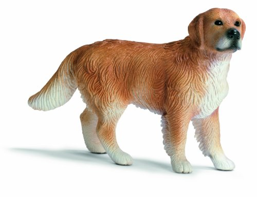 Schleich Male Golden Retriever Toy Figure - 1