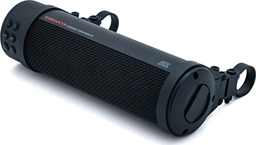 Kuryakyn 2715 MTX Road Thunder Weather Resistant Motorcycle Sound Bar: 150 Watt Handlebar Mounted Audio Speakers with Bluetooth, Satin Black