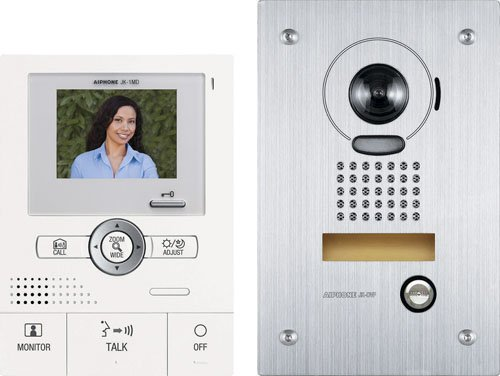 Aiphone Jks-1Adf Audio/Video Single-Door Intercom Set, Includes Master Station With Power Supply And Flush-Mount Vandal-Resistant Door Station front-426482