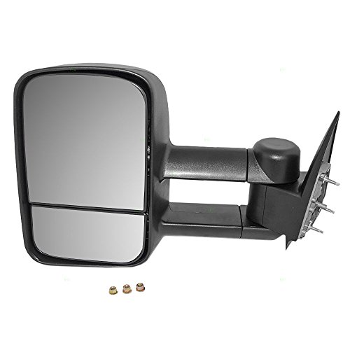 Drivers Manual Telescopic Tow Side View Mirror Performance Upgrade Replacement for Chevrolet Cadillac GMC Pickup Truck GM1320416 (2003 Silverado Manual Tow Mirrors compare prices)