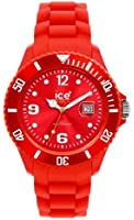 ICE-Watch - SI.RD.S.S.09 - Montre Femme - Quartz - Analogique - Bracelet Silicone Rouge
