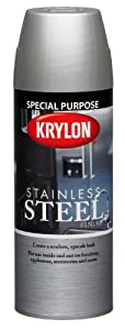Krylon k02400000 stainless steel finish aerosol spray for Can you spray paint stainless steel