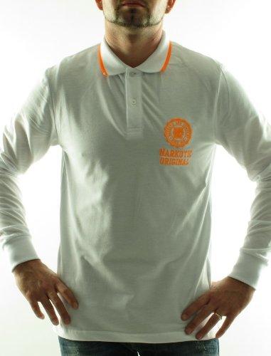 Narkotic Nk1222 Straight White Man Polo Shirts Men - Xl