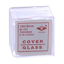 American Educational Glass Microscope Cover Slip, 18mm Length, 18mm Width, #2 Thickness (Bundle of 800)