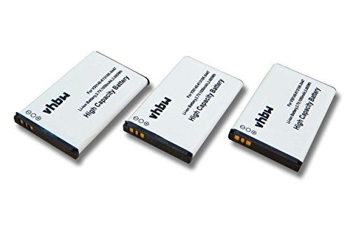 3 x Batterie VHBW 1050mAh per Telefono cordless fisso Siemens Gigaset SL910, SL910A, SL910H come V30145-K1310K-X447, V30145-K1310K-X447-0-HY