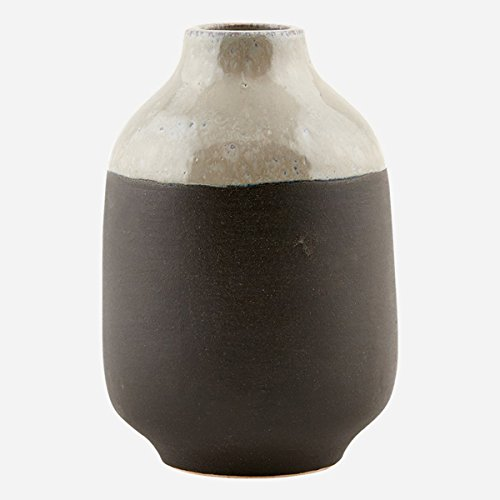 House Doctor Vase Earth grau/schwarz (Ø10x15)