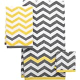 Mainstays Chevron Bath Towel, Yellow