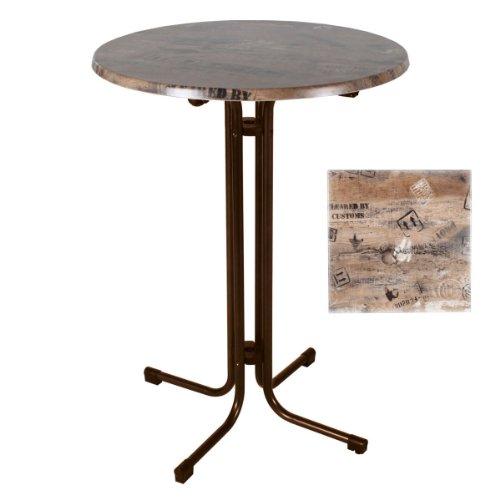 Stehtisch-klappbar-Bistrotisch-Partytisch-Werzalit-Tischplatte-Ex-Works-80-cm