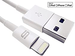 Syncwire Lightning Cable to USB [Apple MFI Certified] for Apple iPhone 5 / 5C / 5S, iPad Air, iPad mini, iPod nano 7th generation, ipod touch 5th generation - Best Compatible Charger Cord for Data and Syncing - Guaranteed Wire to Work with iOS7 - Fits All Aftermarket Cases and Accessories - Long (3 ft. / 0.9 m) and Portable - Original 8 Pin connector on Lightning End - Fits All USB Car Chargers - Premium Quality with Lifetime Replacement Guarantee