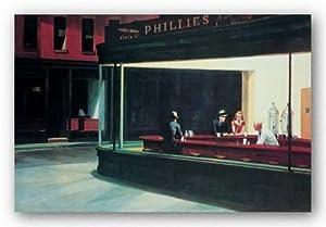 (24x36) Edward Hopper Nighthawks Art Print Poster