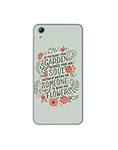 HTC Desire 820 ht003 (79) Mobile Case from Mott2 - Garden Soul Someone Flower... (Limited Time Offers,Please Check the Details Below)