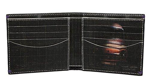 Paul Smith Men's Billfold a portafoglio, in pelle, colore: Nero, Mini-Cross Hatch Print AKXX 1032-W586B