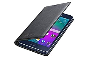 ELICA Leather Flip Cover For Lenovo A7000 Black