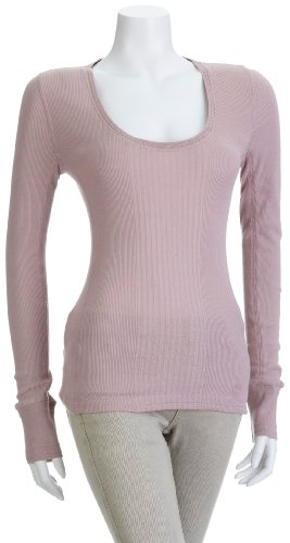 Timberland Women's Aspen Long Sleeve Crew Top Pink 36231-664 X-Large