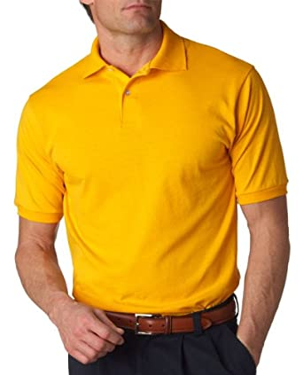 Jerzees 437 5.6 oz. 50/50 Jersey Polo with SpotShield-Small-Gold
