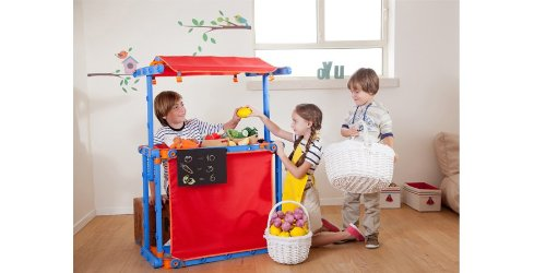 Kaufladen Holz Puppentheater ~  Spielhaus Fussballtor, Puppentheater, Kasperletheater, Kaufladen