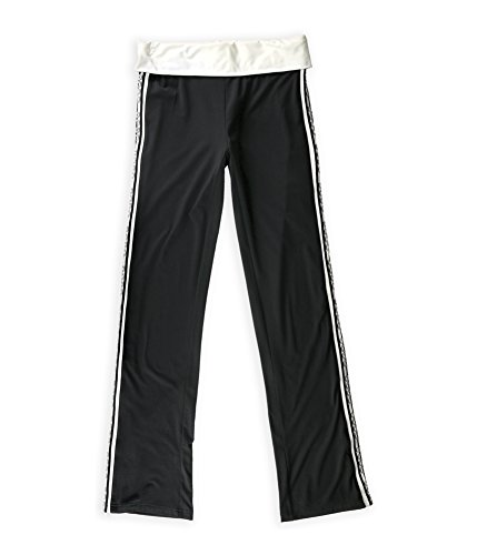 bcbg-womens-metallic-logo-stripe-athletic-track-pants-blackwhite-m-34