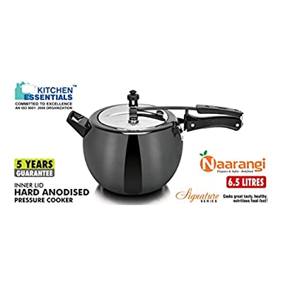Kitchen Essentials HA Induction Base Naarangi Pressure Cooker 6.5 Litre