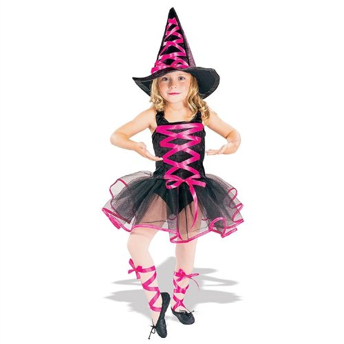 Pink Ballerina Witch Kids Costume