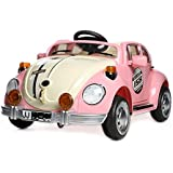 Duplay Retro Bug Beetle Style 12v Kids Electric Ride On Car - MP3 and Parental Remote Control - 3 Colours