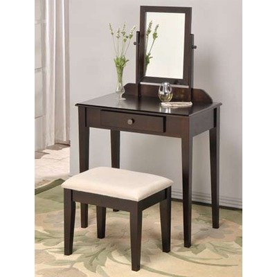 ADF Espresso Space Saver Wood Vanity Set