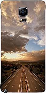 Snoogg Cloudy Sunset Over Highway Designer Protective Back Case Cover For Sam...