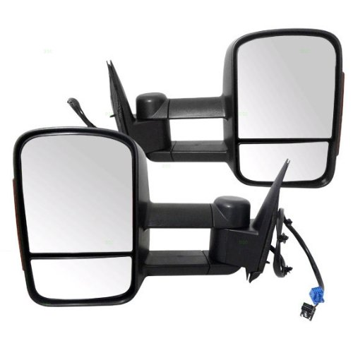 New Pair Set Heated Telescopic Power Tow Mirror w/ Signal Pickup Truck (1999 Silverado Tow Mirrors compare prices)