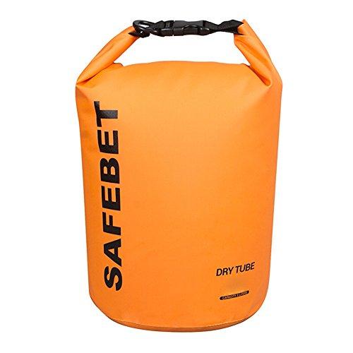 Listen2U 10L Dry Bag Borse Impermeabile Sacchetto asciutto borsa di Stoccaggio per Trekking Pesca Nuoto Rafting Kayak Canoa Nautica Campeggio Snowboard Multicolore Opzionale (arancione)