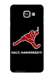 MiiCreations 3D Printed Back Cover for Samsung Galaxy A7 (2016),Halt;Hammerzeit!
