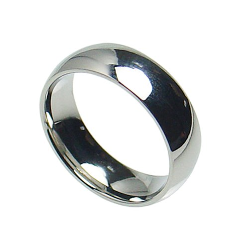 Stainless Steel Plain Wedding Band Ring 8mm Comfort Fit Sizes 6 Thru 14 (13)