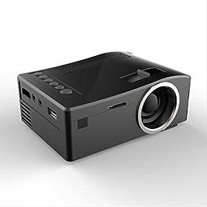 Mokiwi® Portable Mini Multi-media LED TFT Projector Home Cinema Theater 800 Lumens IR HDMI USB AV TF & Support 1080P Multi Languages-Black