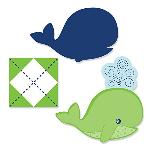 Tale Of A Whale - Shaped Party Cut-Outs - 24 Count