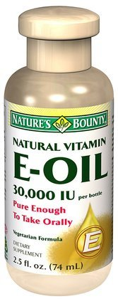 Nature's Bounty Vitamin E-Oil, Natural, 2.5 oz.