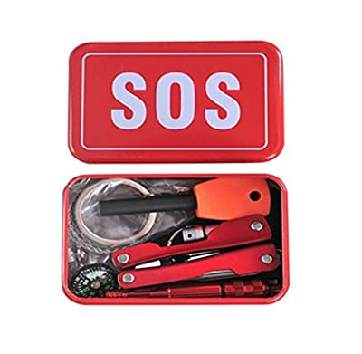 Survival Kit Emergency SOS Survive Tool Pack for Camping Hiking Hunting Biking Climbing Traveling and Emergency by Zhuit