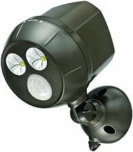 Mr Beams MB390 300-Lumen Weatherproof Wireless Battery Powered LED Ultra Bright Spotlight with Motion Sensor, Brown