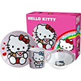 Hello Kitty. Breakfast Set: plate, bowl and cup.