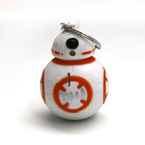 Star Wars Keychains Anime BB8 Droid Robot LED Keychain Light Sound Figures Toy
