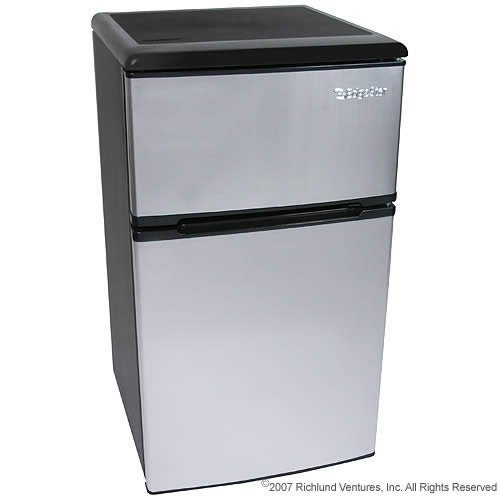 New 3 2 Cu Ft Portable Fridge Freezer Stainless Steel