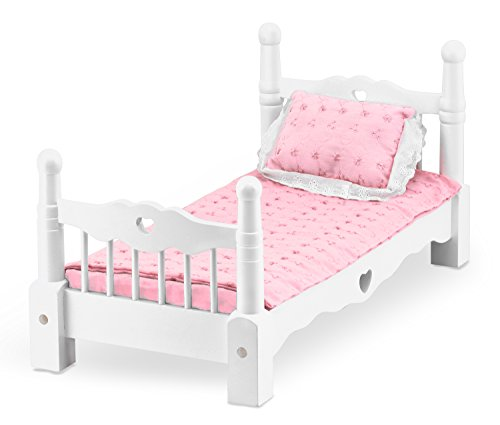 Melissa-Doug-White-Wooden-Doll-Bed-With-Bedding-24-x-12-x-11-inches