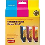 Staples compatible ink Canon CLI-8 c/m/y multipack [PC]
