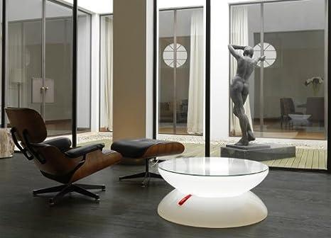 Couchtisch Lounge Indoor Leuchttisch Wohnzimmertisch by Moree, Glastischplatte:mit Tischplatte